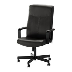 MALKOLM swivel chair, Bomstad black Tested for: 110 kg Depth: 65 cm Max. height: 123 cm