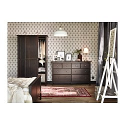 Hemnes 8 Drawer Dresser Black Brown 63x37 3 4