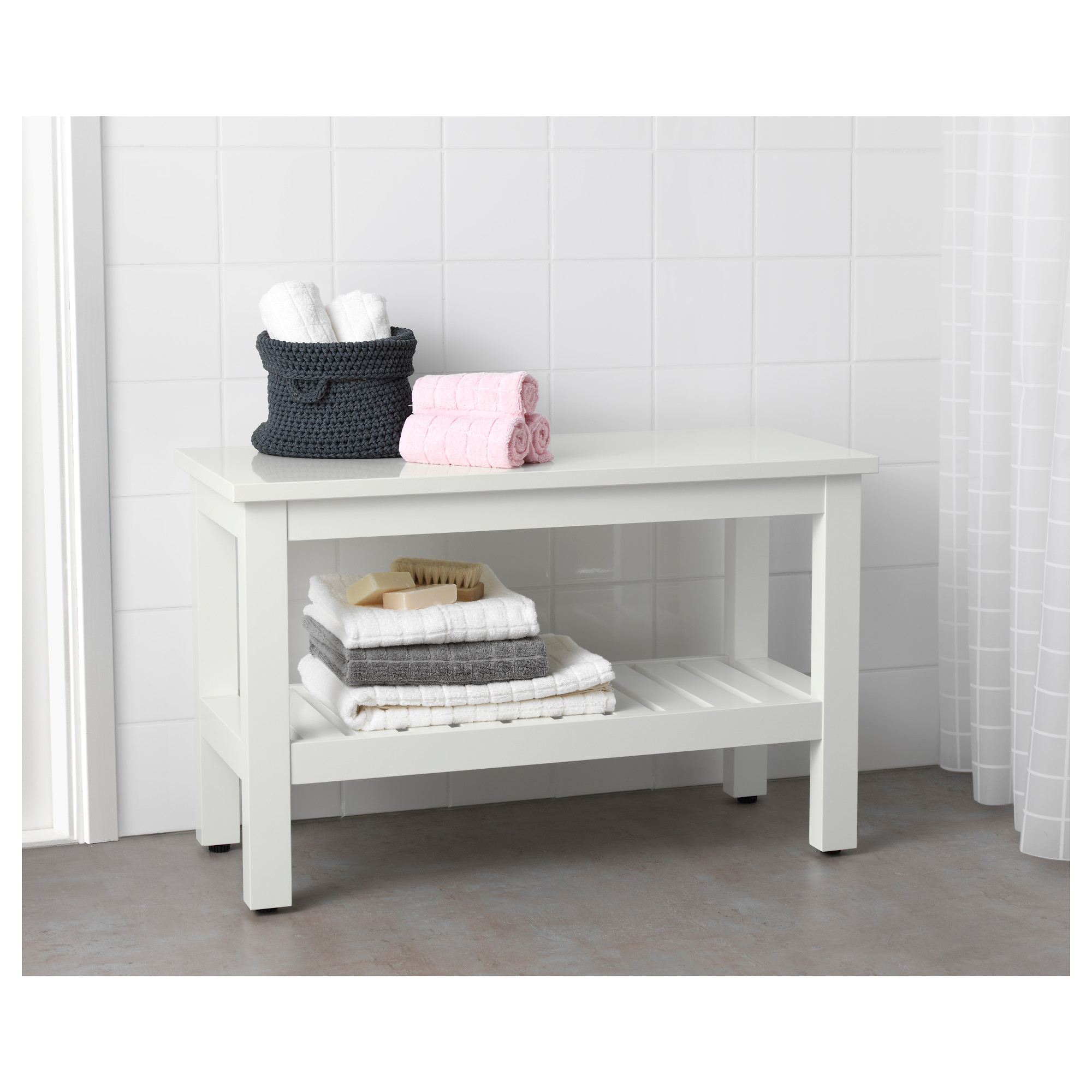 Hemnes bench   white   ikea
