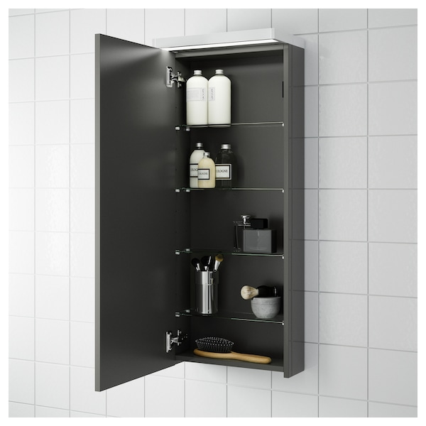 Cool Wall Cabinet With 1 Door Godmorgon High Gloss Grey Home Interior And Landscaping Ponolsignezvosmurscom