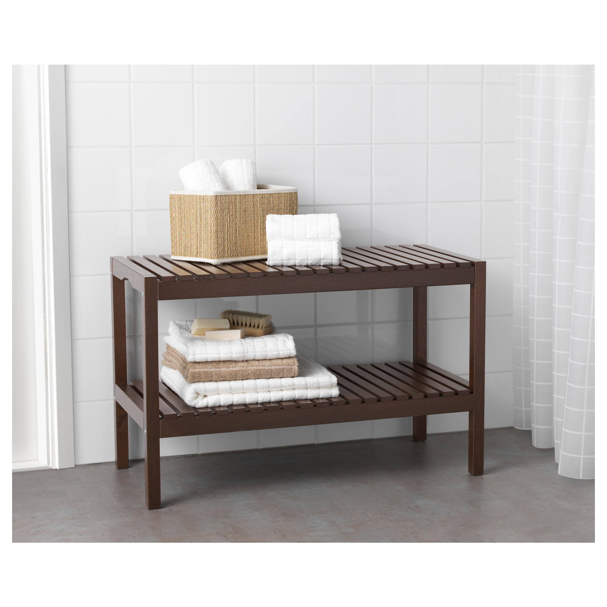 Bathroom Bench molger bench - dark brown - ikea