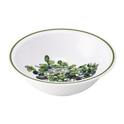 CELEBRERA bowl, Blueberry, white Diameter: 15 cm Height: 5 cm