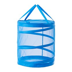 "FYLLEN laundry basket, blue Height: 19 ¾ "" Volume: 21 gallon Height: 50 cm Volume: 79 l"