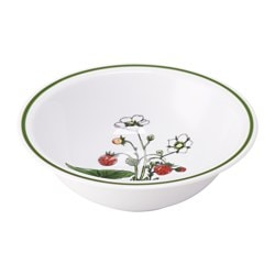 CELEBRERA bowl, strawberry, white Diameter: 15 cm Height: 5 cm
