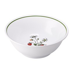 CELEBRERA serving bowl, strawberry, white Diameter: 21 cm Height: 8 cm