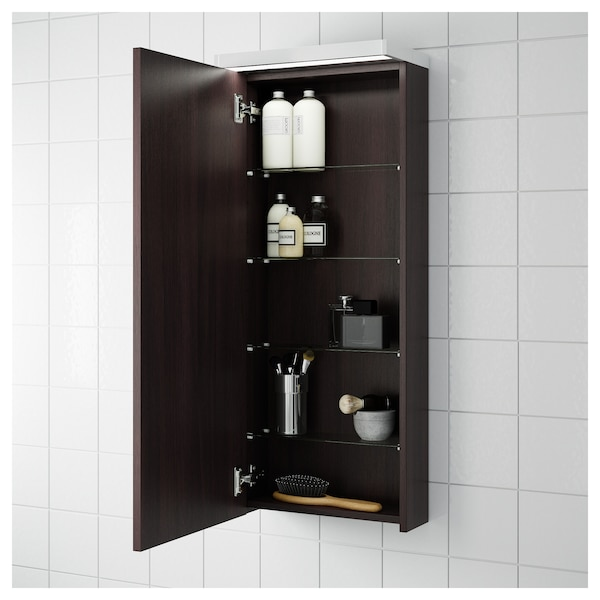 new product f8d42 e2b88 Wall cabinet with 1 door GODMORGON black-brown black-brown