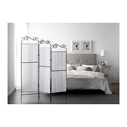EKNE Room Divider, Grey, White