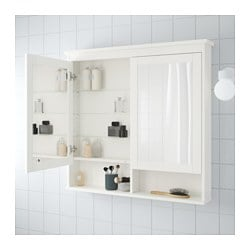 Hemnes Mirror Cabinet With 2 Doors White