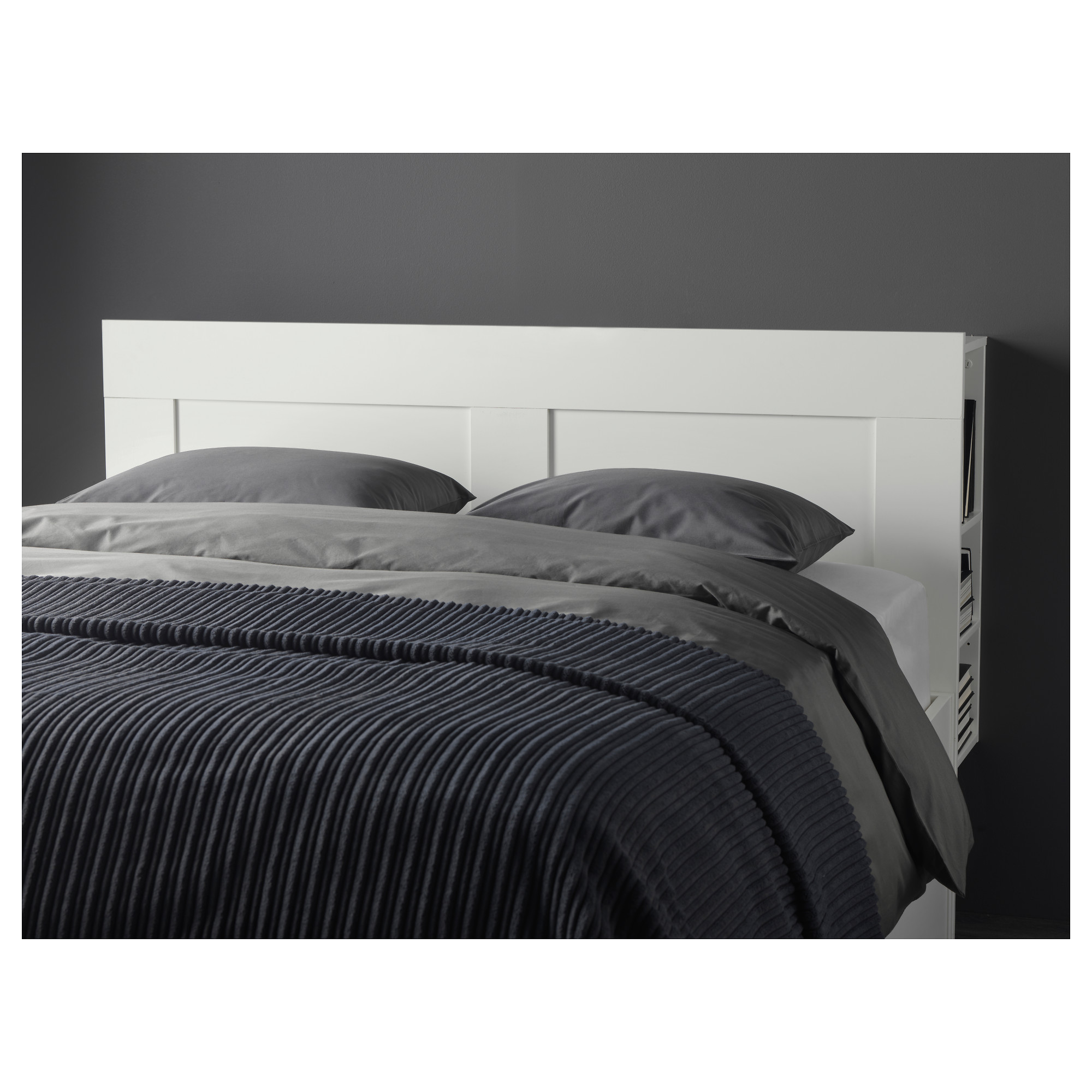 BRIMNES Headboard with storage partment Full Double IKEA