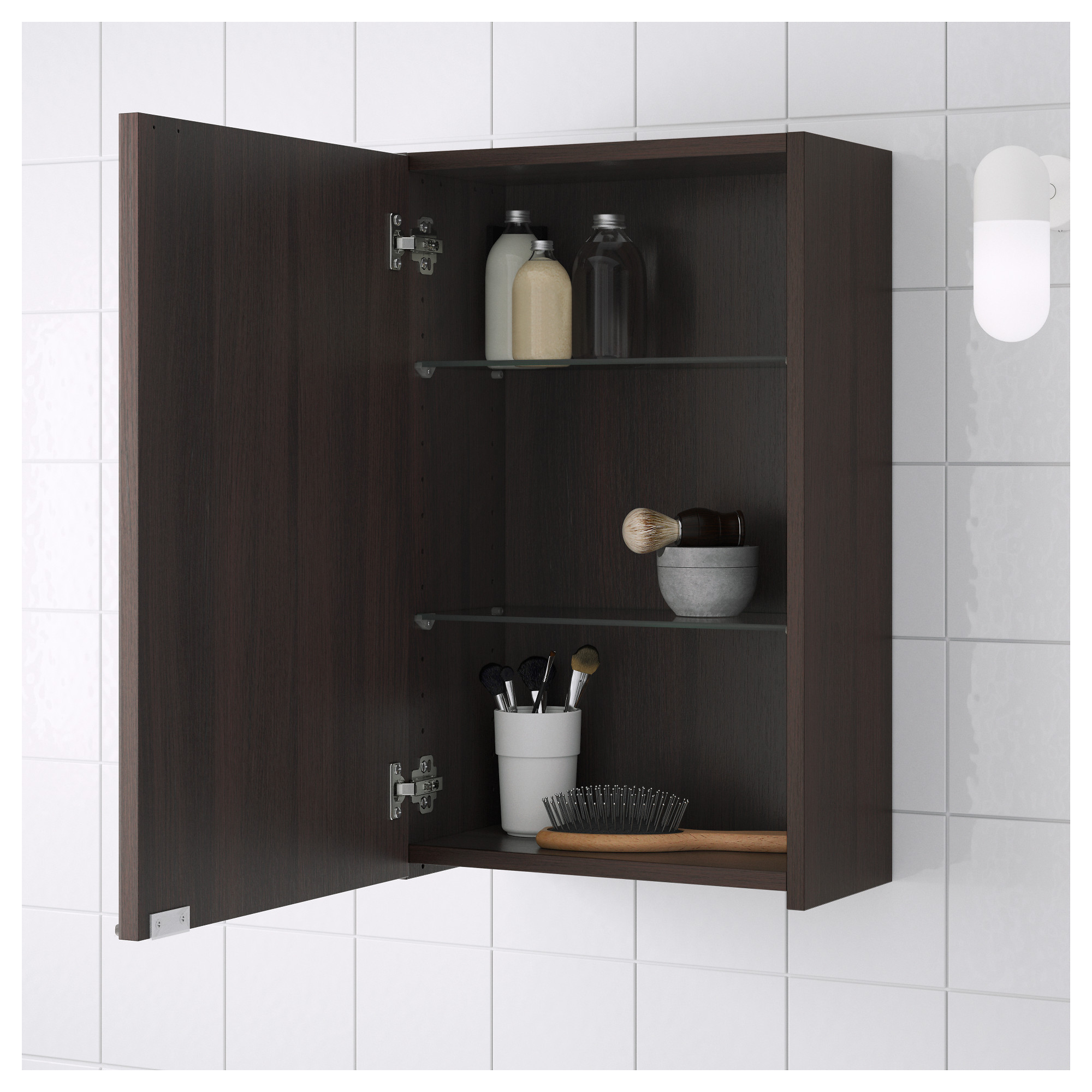 Black Wall Cabinet lillÅngen wall cabinet - black-brown - ikea