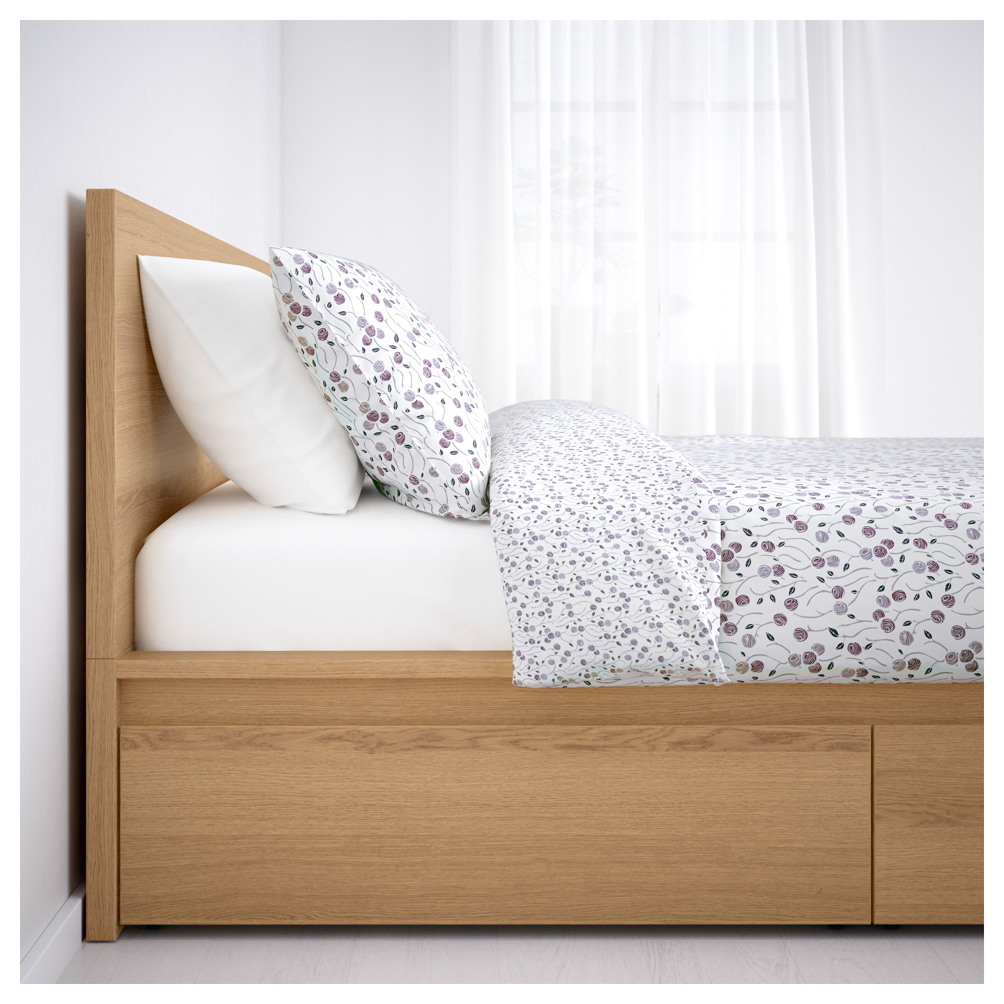 MALM Bed frame, high, w 2 storage boxes - - - IKEA