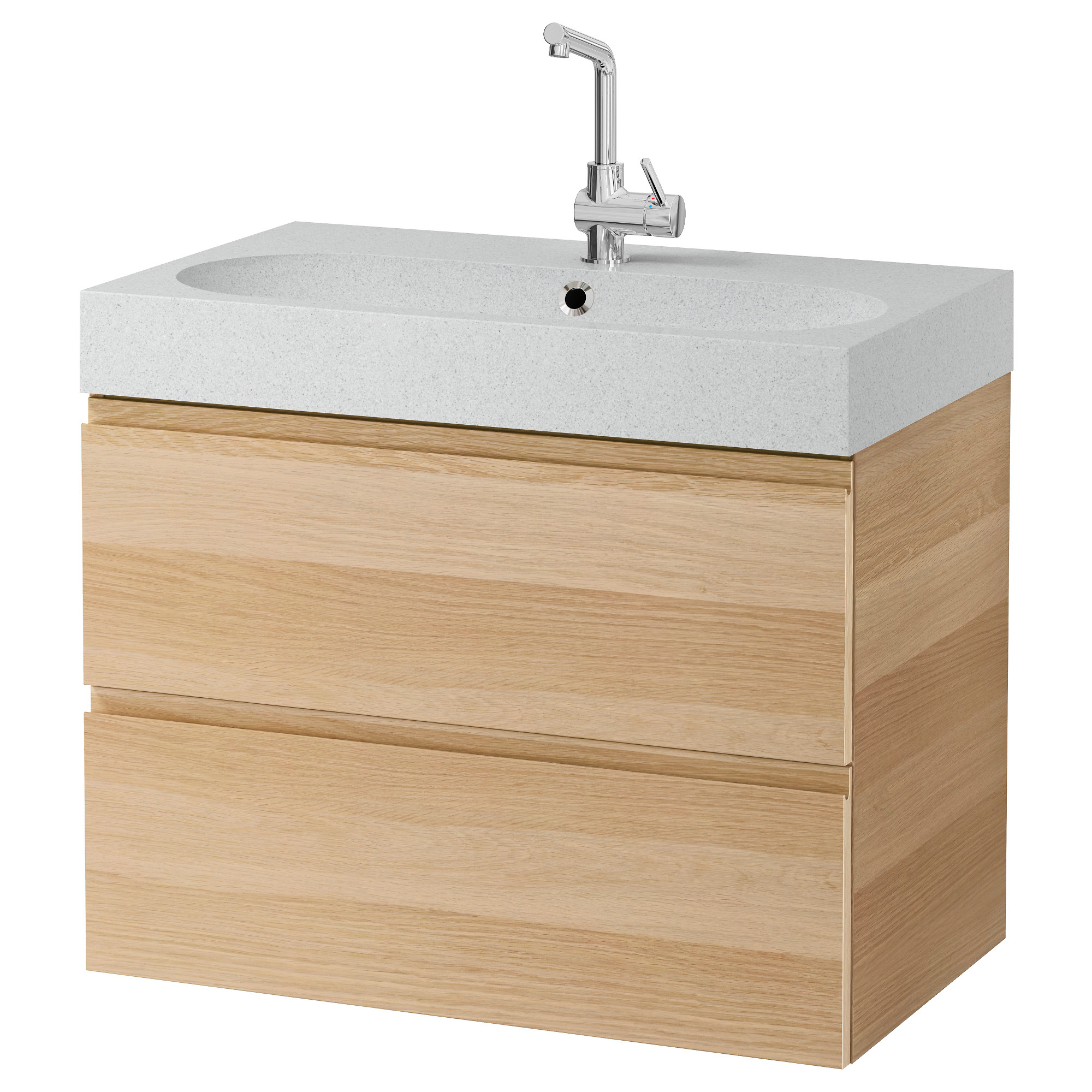 GODMORGON   BR VIKEN sink cabinet with 2 drawers  white stained oak effect   light gray. Sink Cabinets   Bathroom   IKEA
