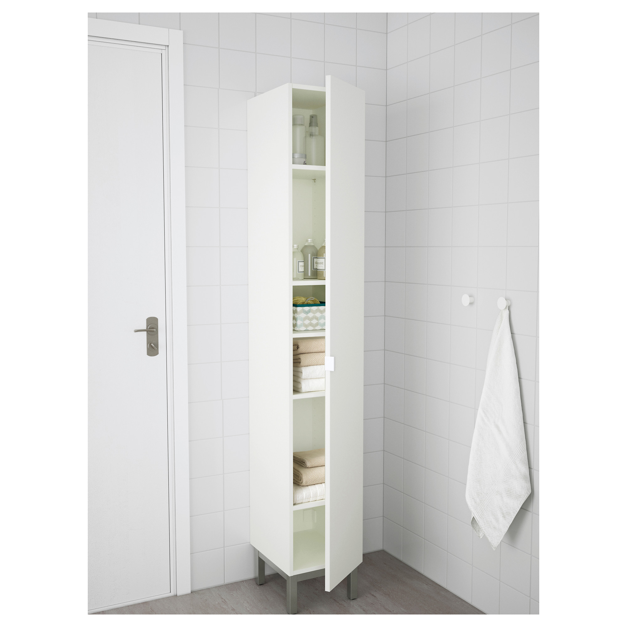 Attractive LILLÅNGEN High Cabinet   White/aluminum   IKEA