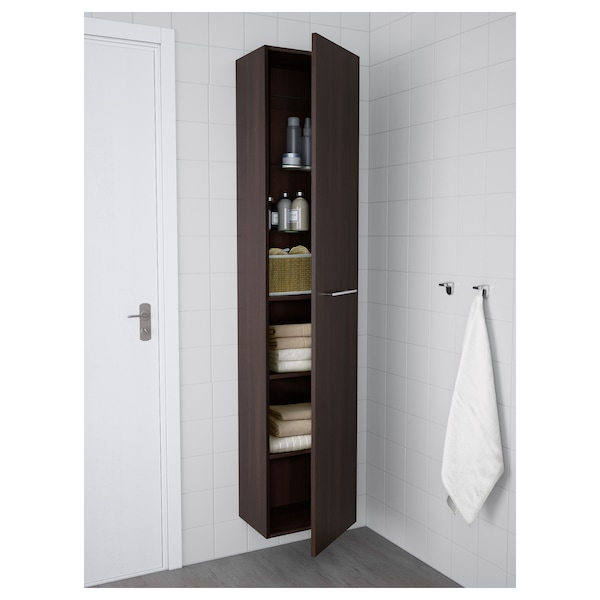 High Cabinet Godmorgon Black Brown