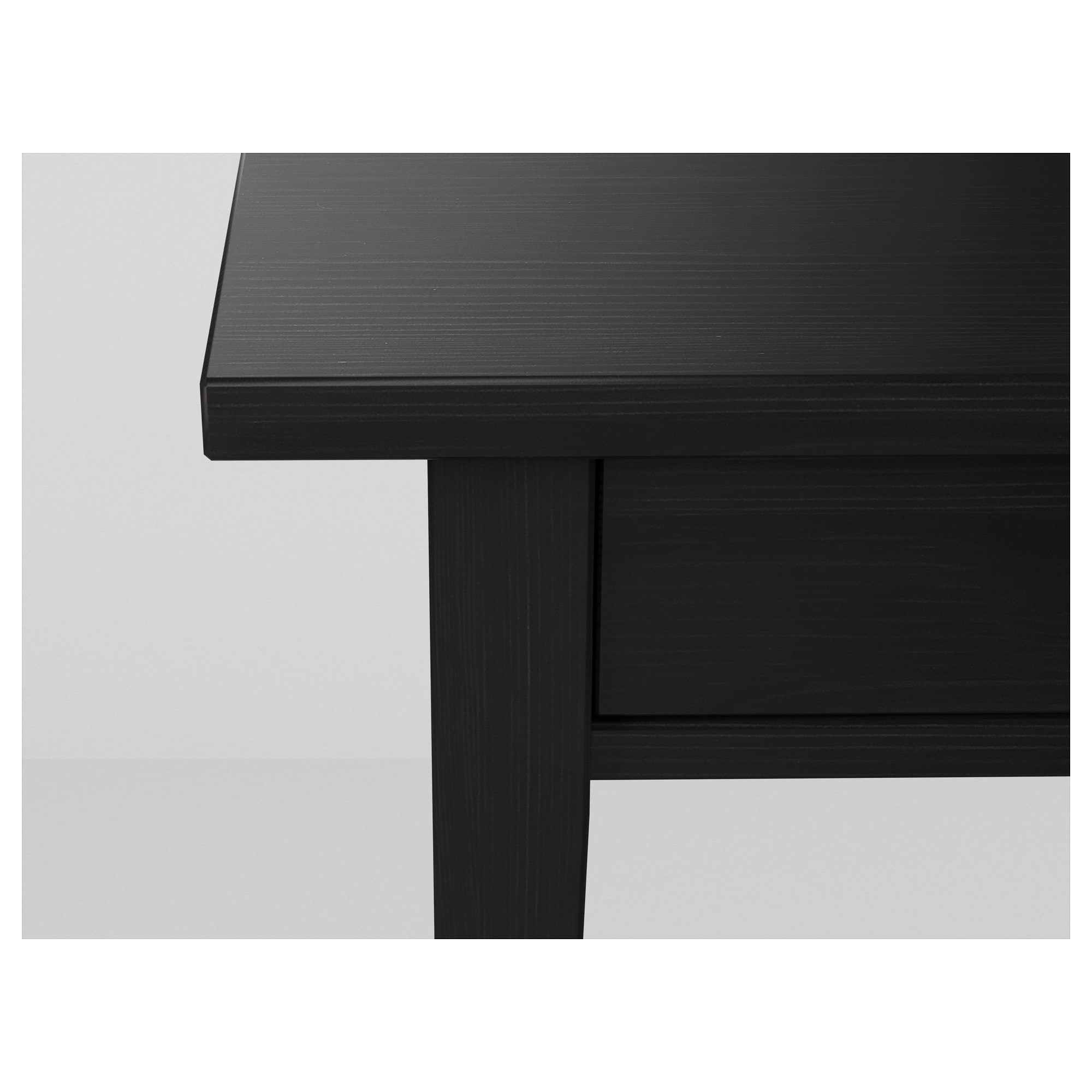 HEMNES Nightstand black brown IKEA