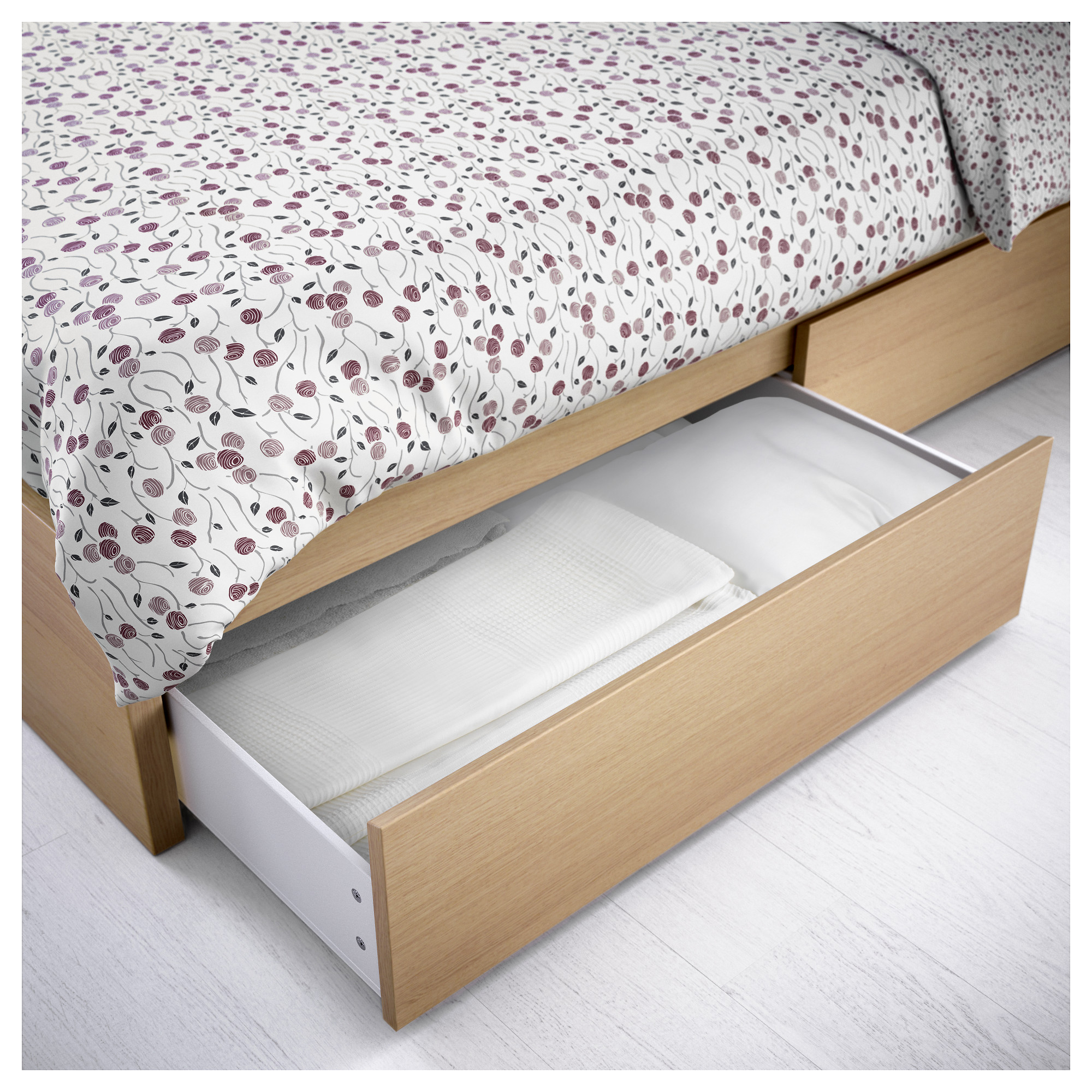MALM High bed frame 4 storage boxes IKEA