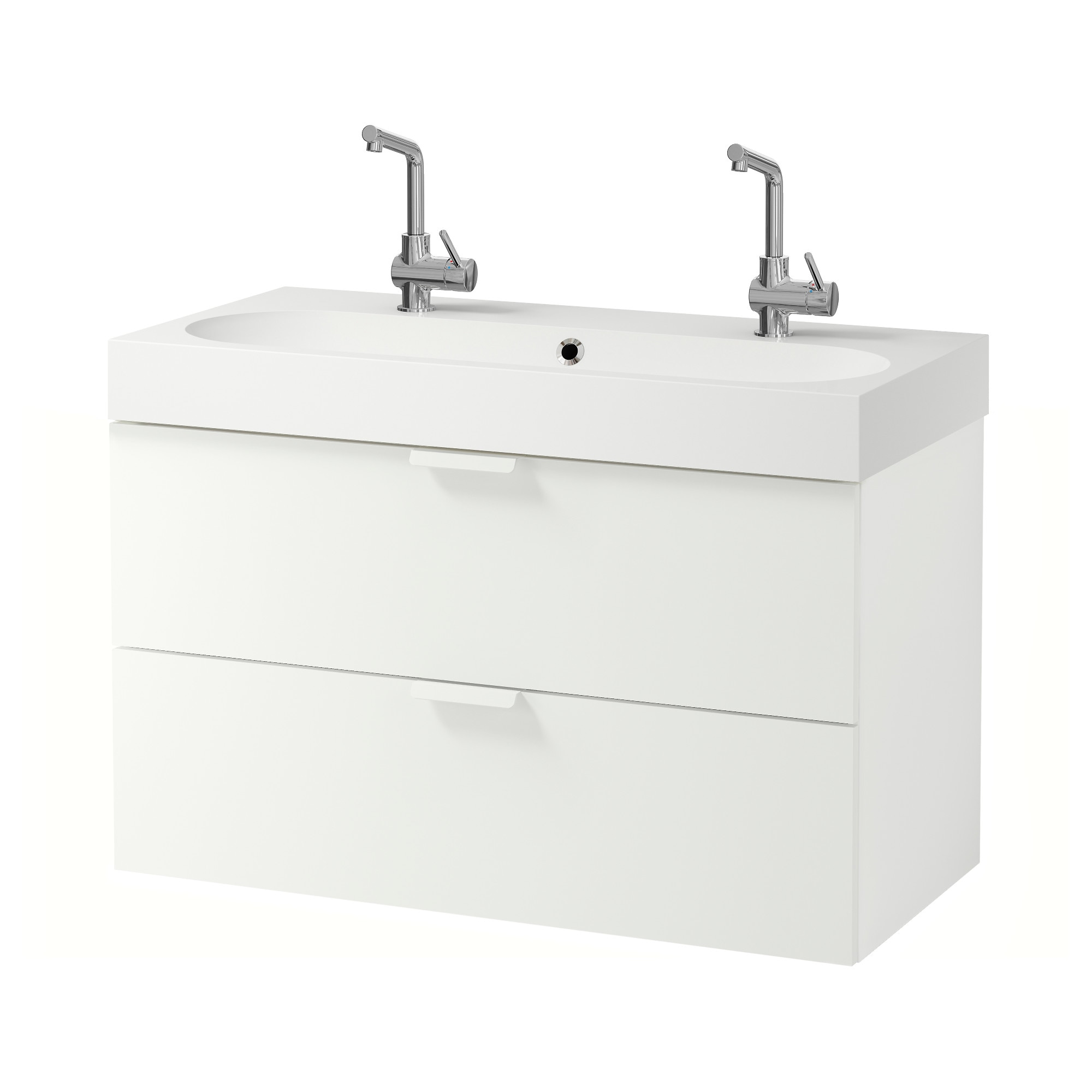 Meuble 2 vasques 100 cm for Meuble lavabo double