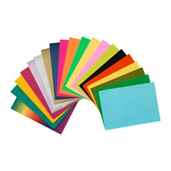 MÅLA, Paper decoration set, assorted colors, assorted designs