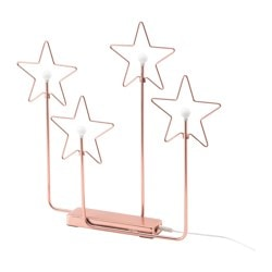 "STRÅLA LED 4-star table decoration, bronze color battery operated Width: 3 "" Height: 17 "" Width: 74 mm Height: 420 mm"