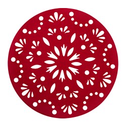 "STRÅLA Christmas tree mat w LED lights, red Diameter: 43 "" Cord length: 13 ' 1 "" Diameter: 110 cm Cord length: 4.0 m"