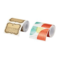 HEMSMAK adhesive labels, assorted patterns Length: 5.4 cm Width: 7.5 cm Package quantity: 90 pack