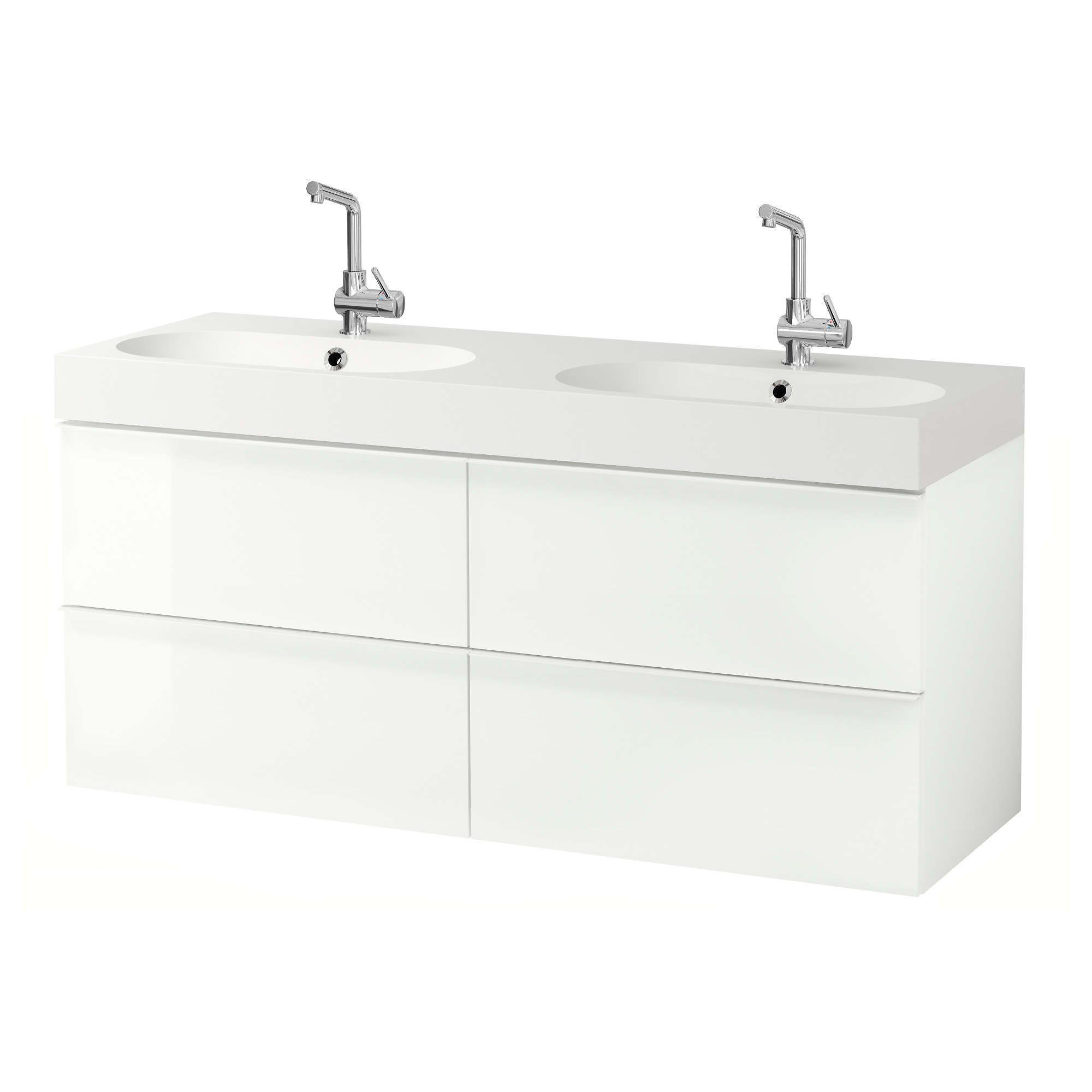 Bathroom sink cabinets ikea - Godmorgon Br Viken Sink Cabinet With 4 Drawers High Gloss White Width 55 7