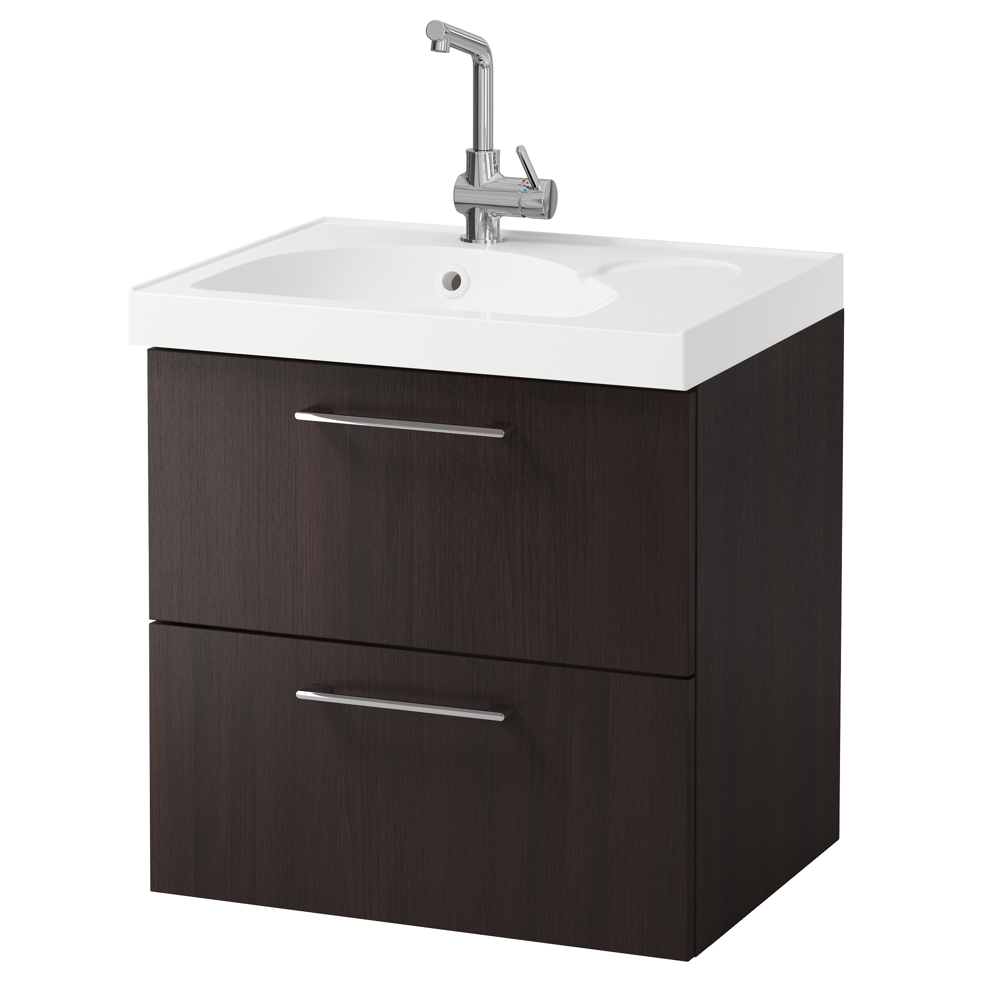 Bathroom sink cabinets ikea - Godmorgon Edeboviken Sink Cabinet With 2 Drawers Black Brown Width 24 3