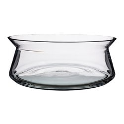 "BJÖRKSNÄS bowl, clear glass Height: 4 "" Diameter: 11 "" Height: 10 cm Diameter: 27 cm"