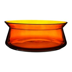 "BJÖRKSNÄS bowl, glass orange Height: 4 "" Diameter: 11 "" Height: 10 cm Diameter: 27 cm"