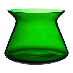 "BJÖRKSNÄS vase, glass green Diameter: 9 ½ "" Height: 6 ¾ "" Diameter: 24 cm Height: 17 cm"