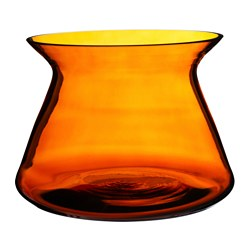 "BJÖRKSNÄS vase, glass orange Diameter: 9 ½ "" Height: 6 ¾ "" Diameter: 24 cm Height: 17 cm"