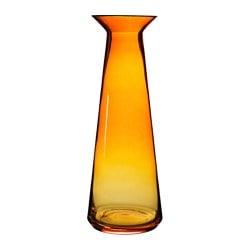 "BJÖRKSNÄS vase, glass orange Diameter: 6 "" Height: 17 "" Diameter: 15 cm Height: 43 cm"