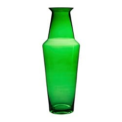 "BJÖRKSNÄS vase, glass green Diameter: 7 ¾ "" Height: 22 "" Diameter: 20 cm Height: 56 cm"
