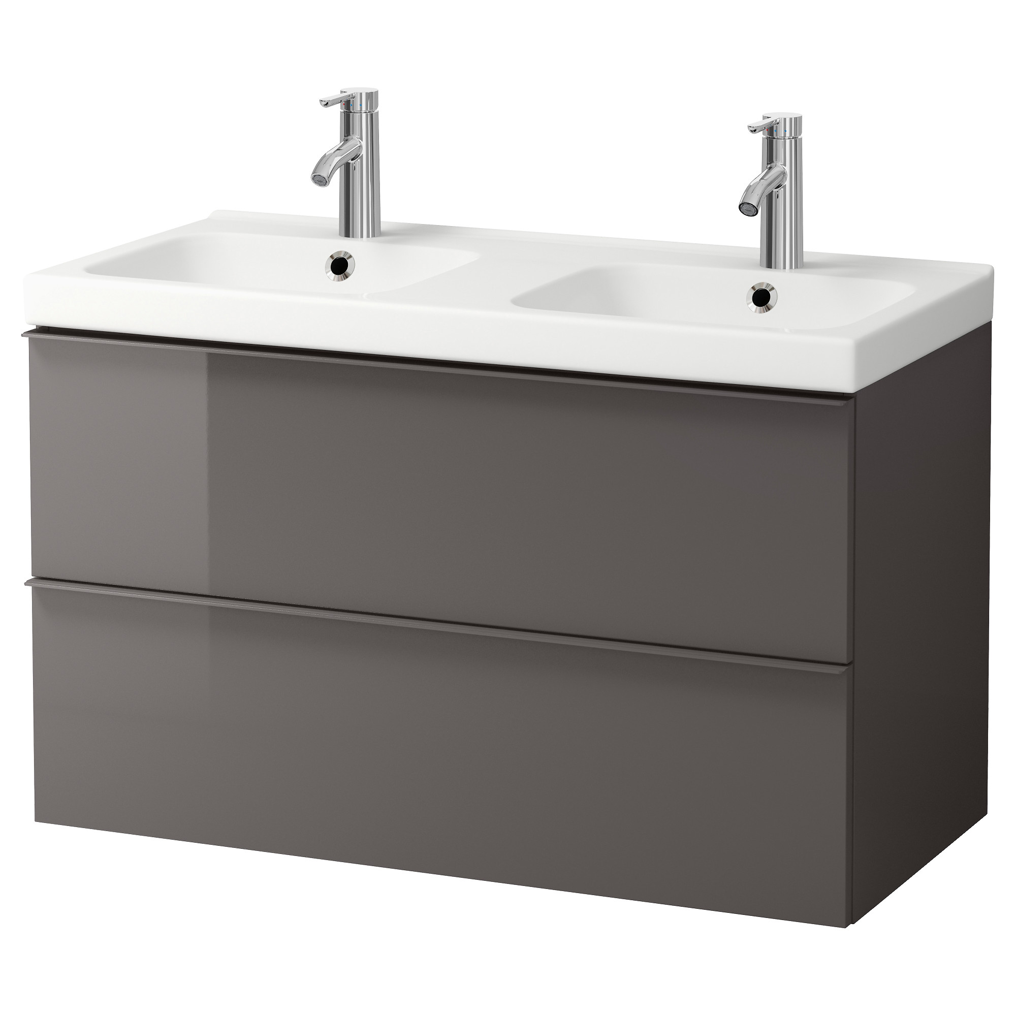 Morgon Odensvik Sink Cabinet With 2 Drawers Black Brown 39