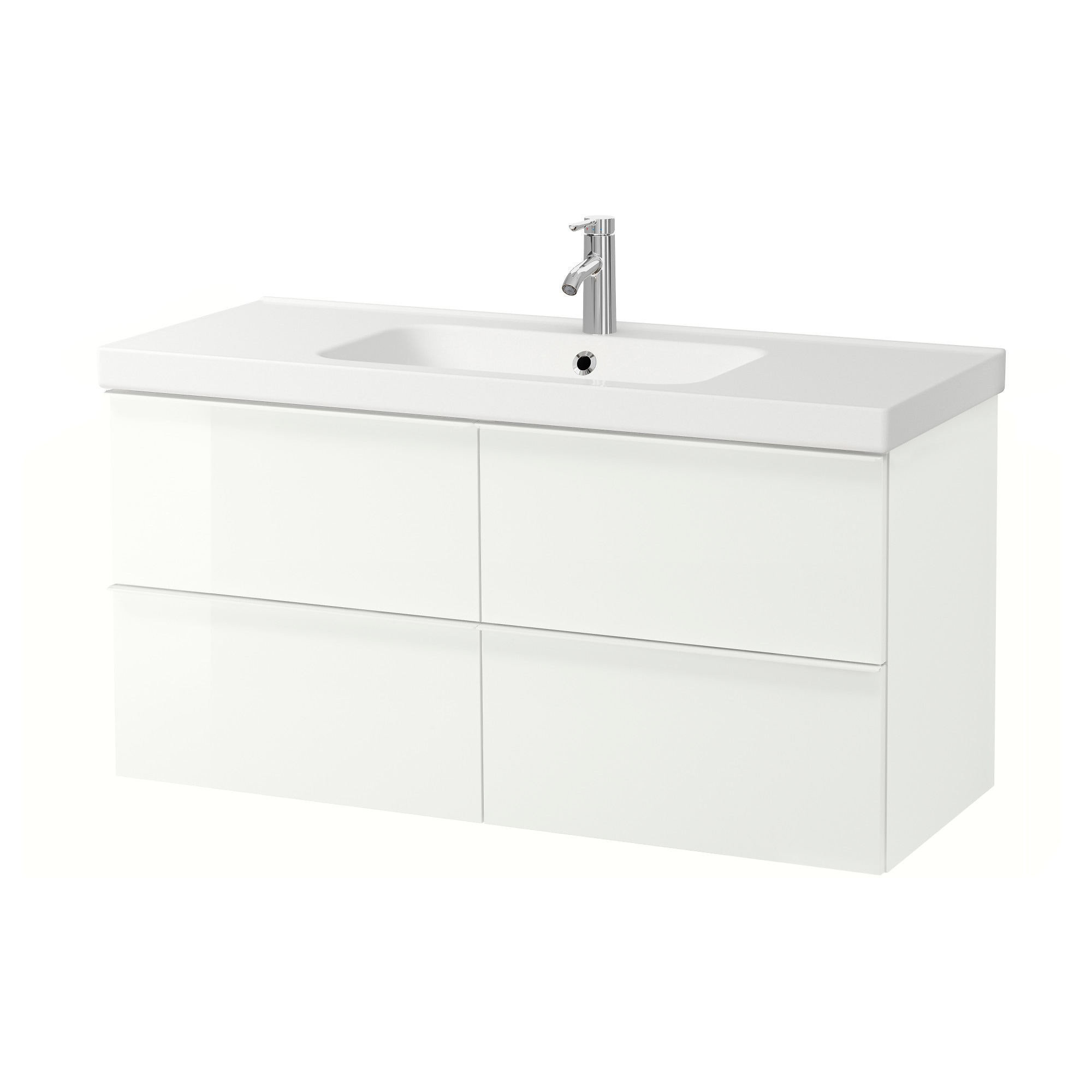 Bathroom Cabinets Black Gloss godmorgon / odensvik sink cabinet with 4 drawers - high gloss gray
