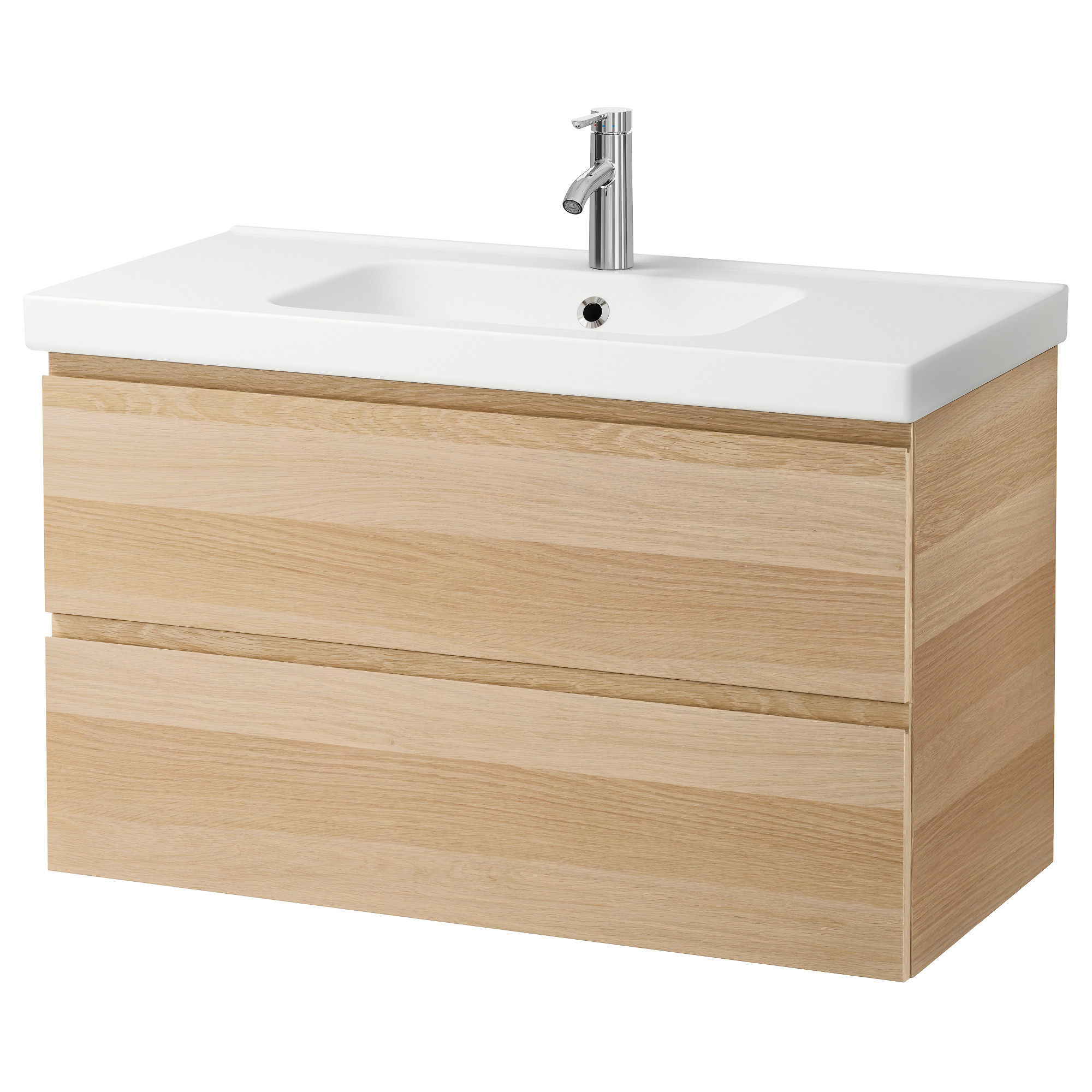 Design Sink Cabinets godmorgon odensvik sink cabinet with 2 drawers white stained oak effect ikea