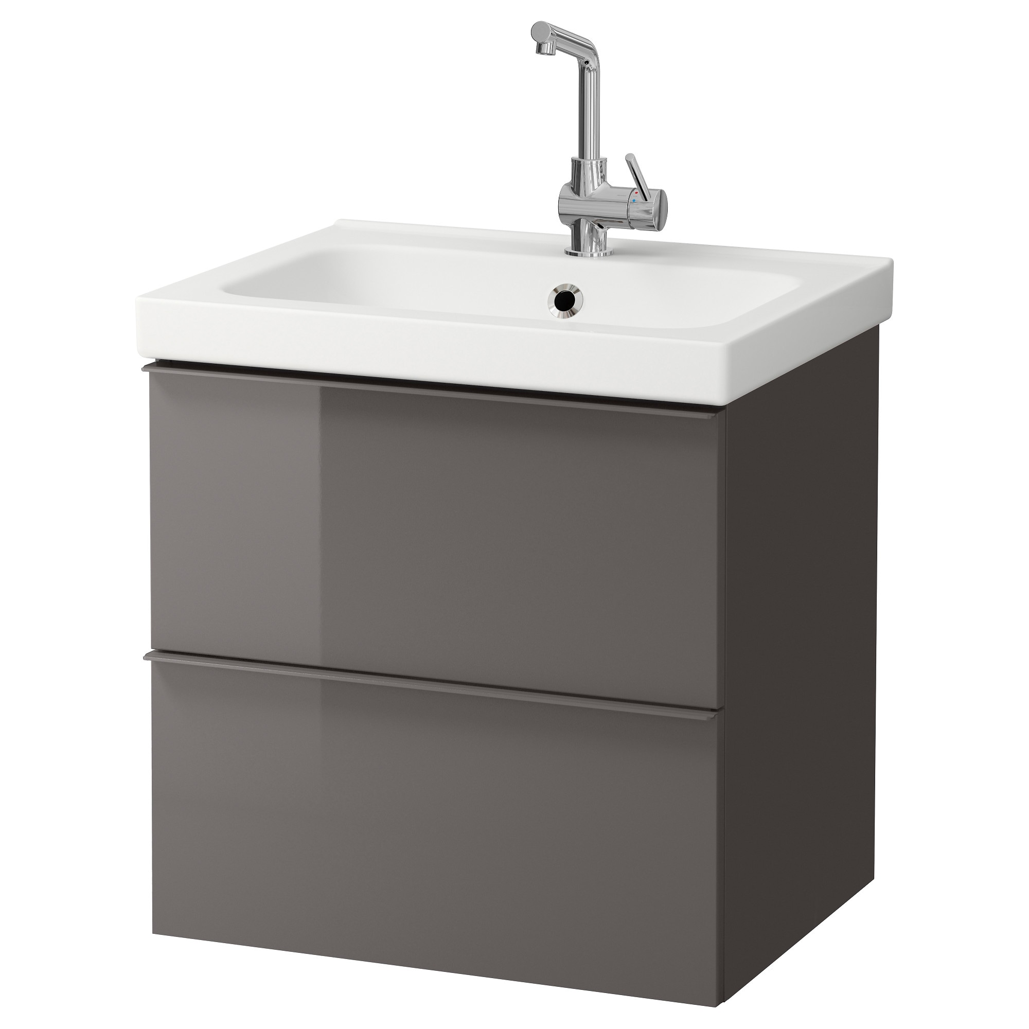 Morgon Odensvik Sink Cabinet With 2 Drawers High Gloss White 23 5 8x19 1 4x25 4 Ikea