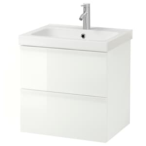 Color: High gloss white/dalskär faucet.