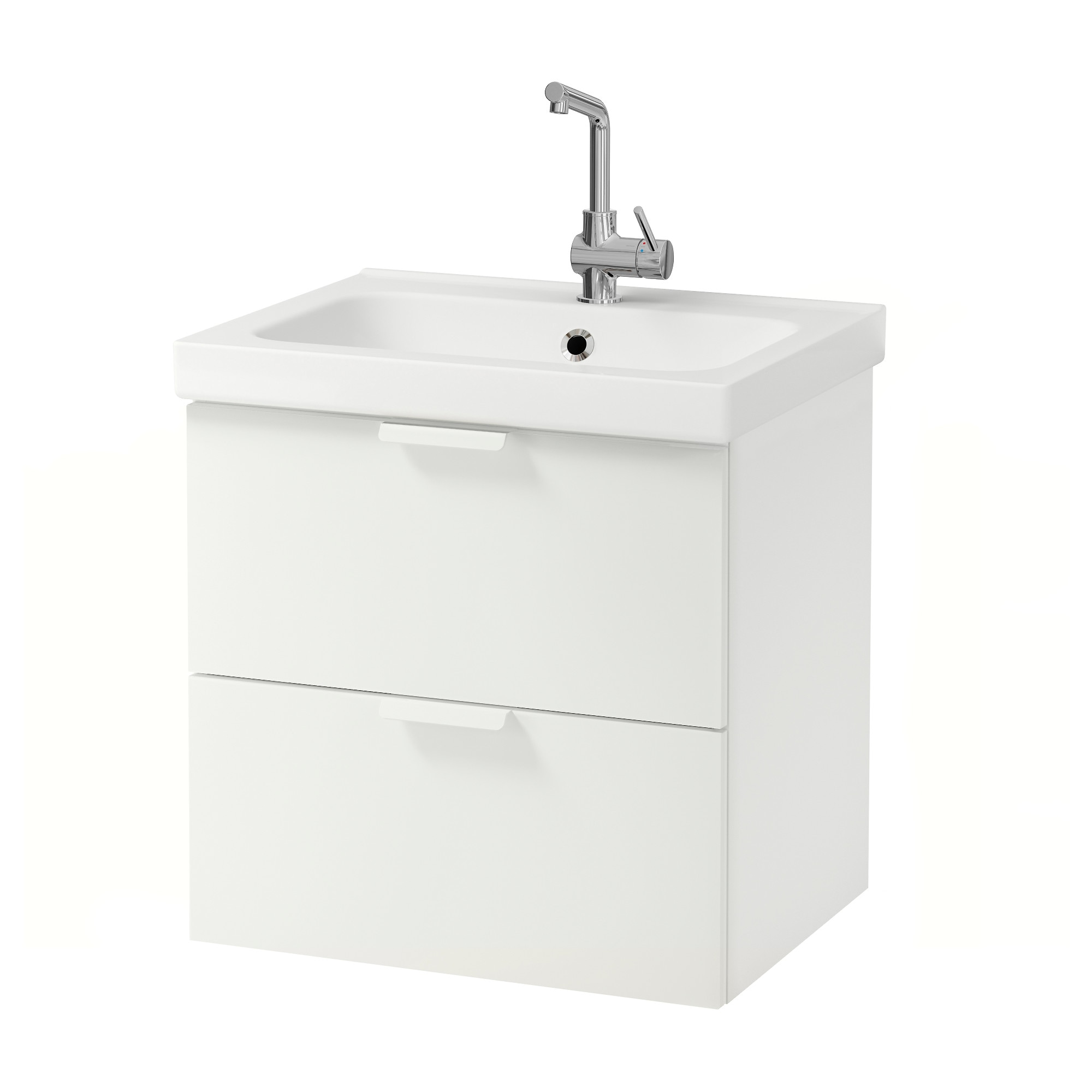 godmorgon odensvik sink cabinet with 2 drawers white ikea