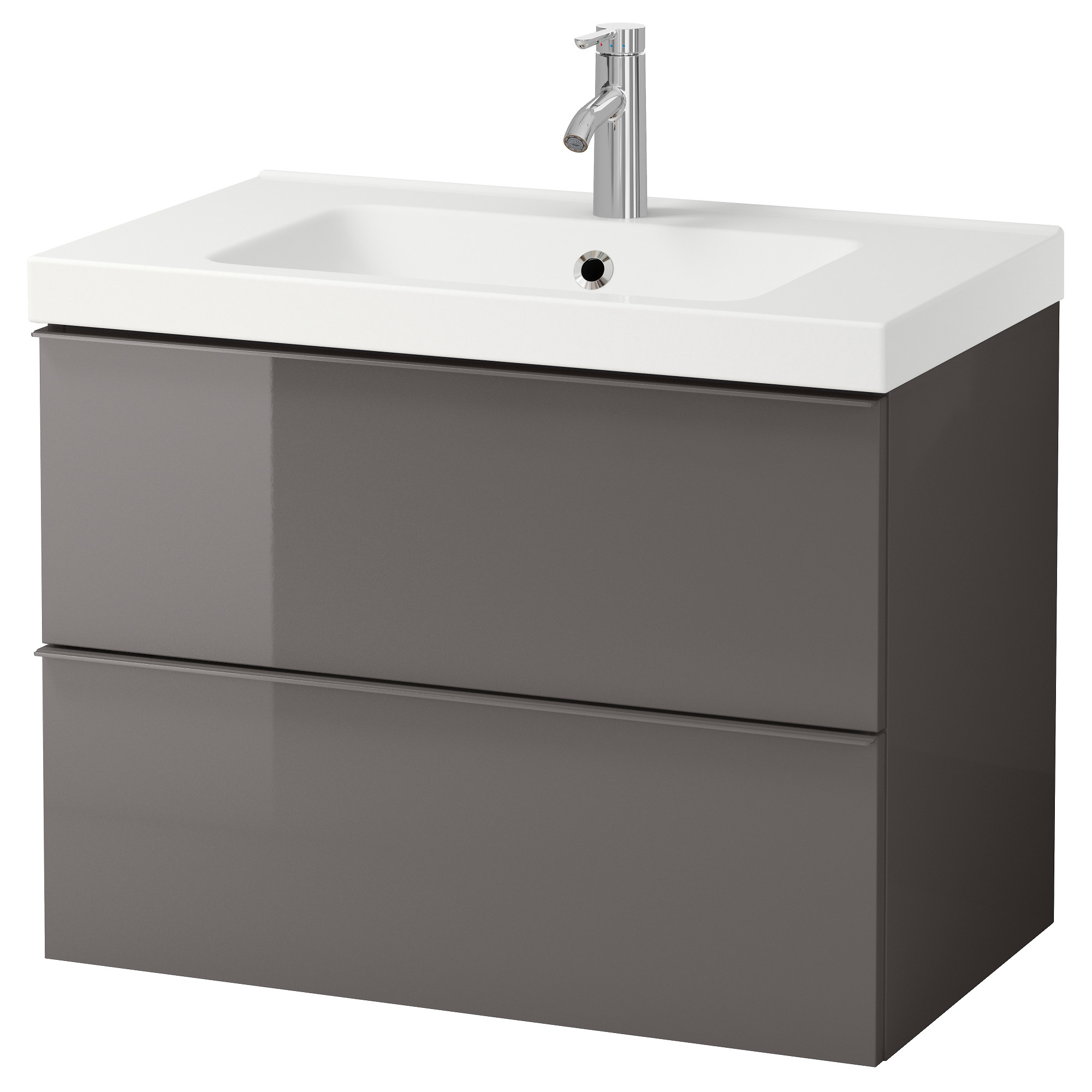 Morgon Odensvik Sink Cabinet With 2 Drawers Black Brown