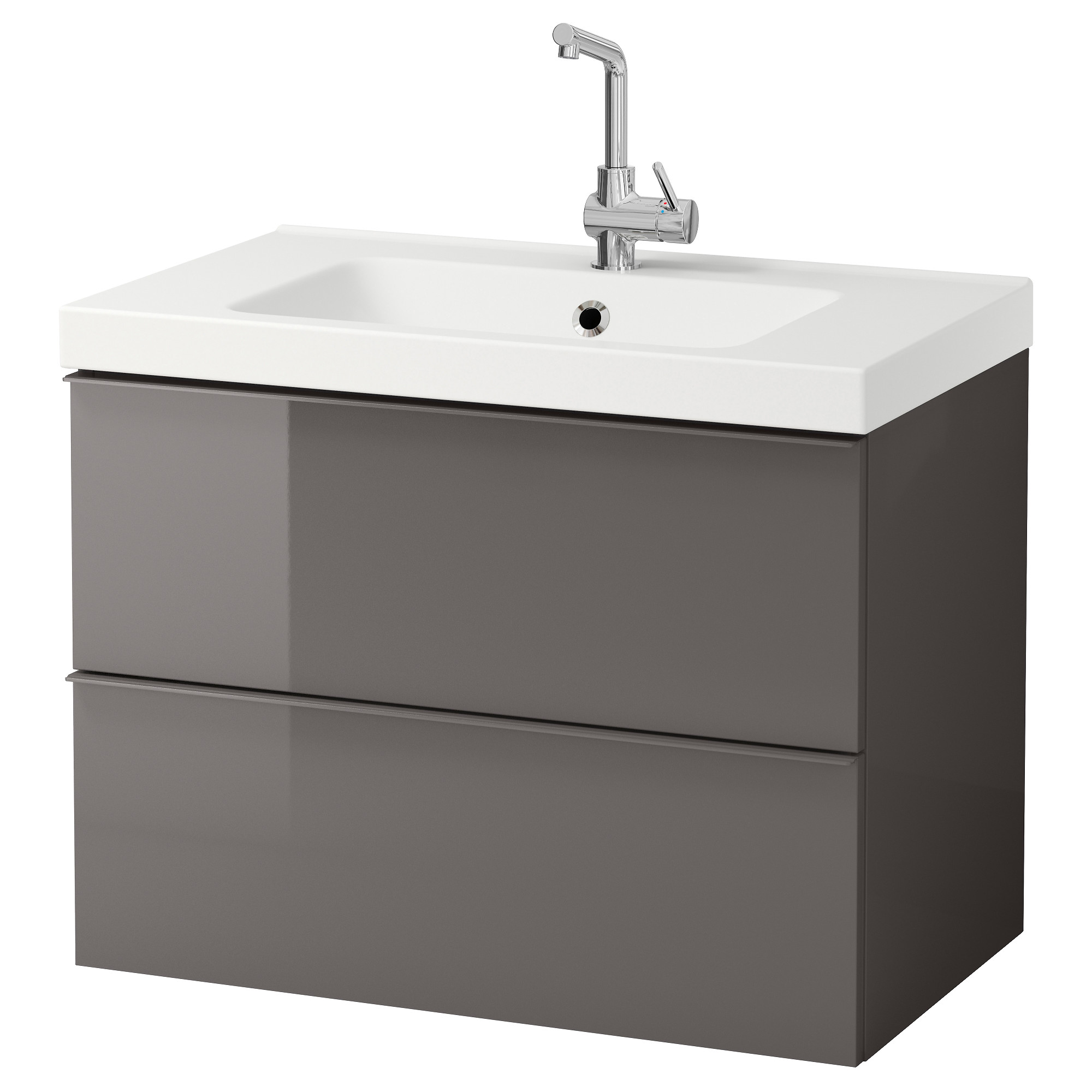 Cabinet With Drawers Godmorgon Odensvik Sink Cabinet With 2 Drawers High Gloss