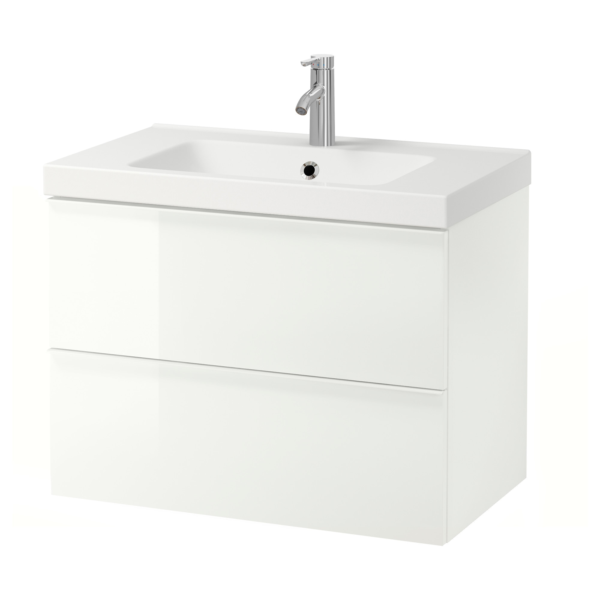 Bathroom sink dimensions mm - Godmorgon Odensvik Sink Cabinet With 2 Drawers High Gloss White White Width 32