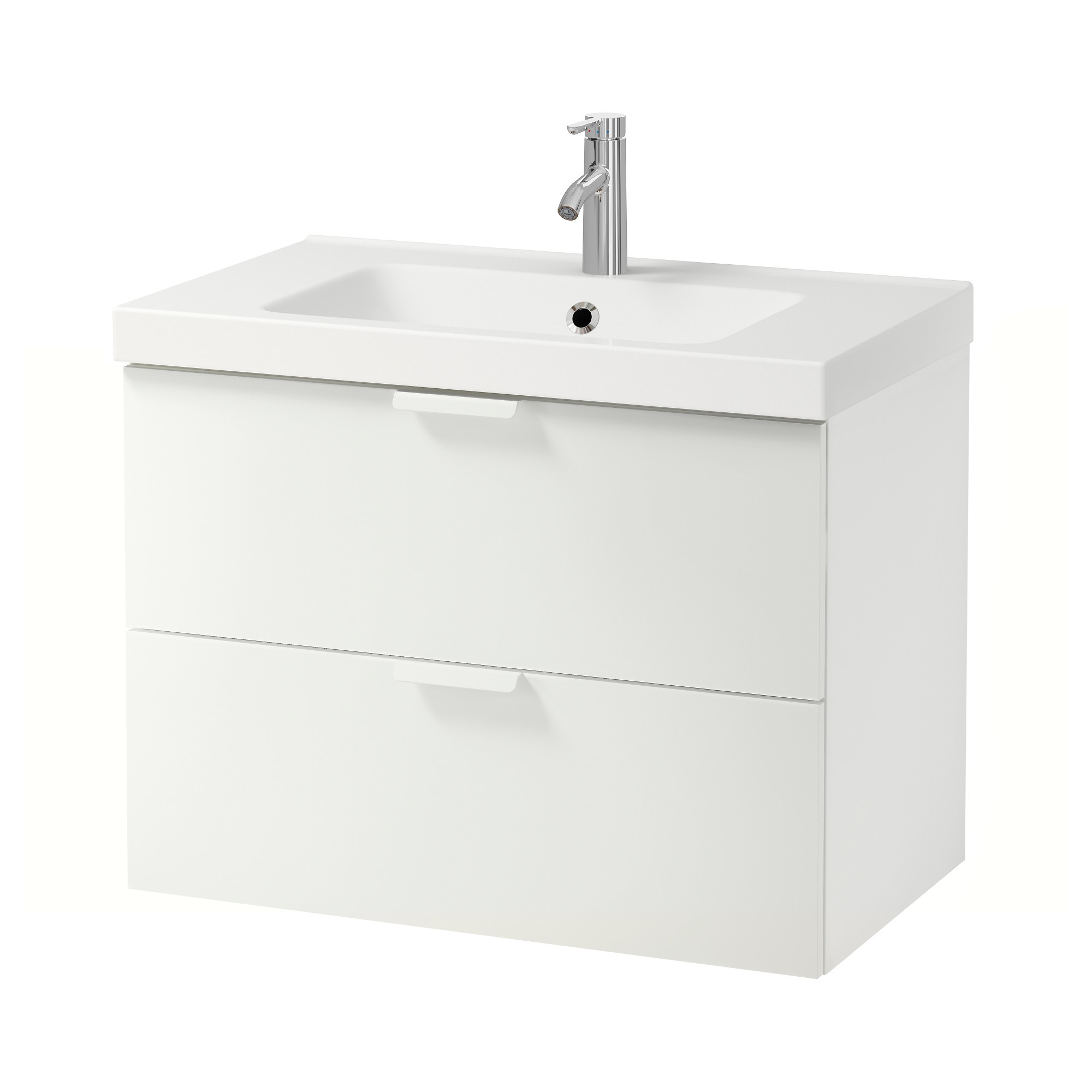 GODMORGON ODENSVIK Sink cabinet with 2 drawers white 31 1