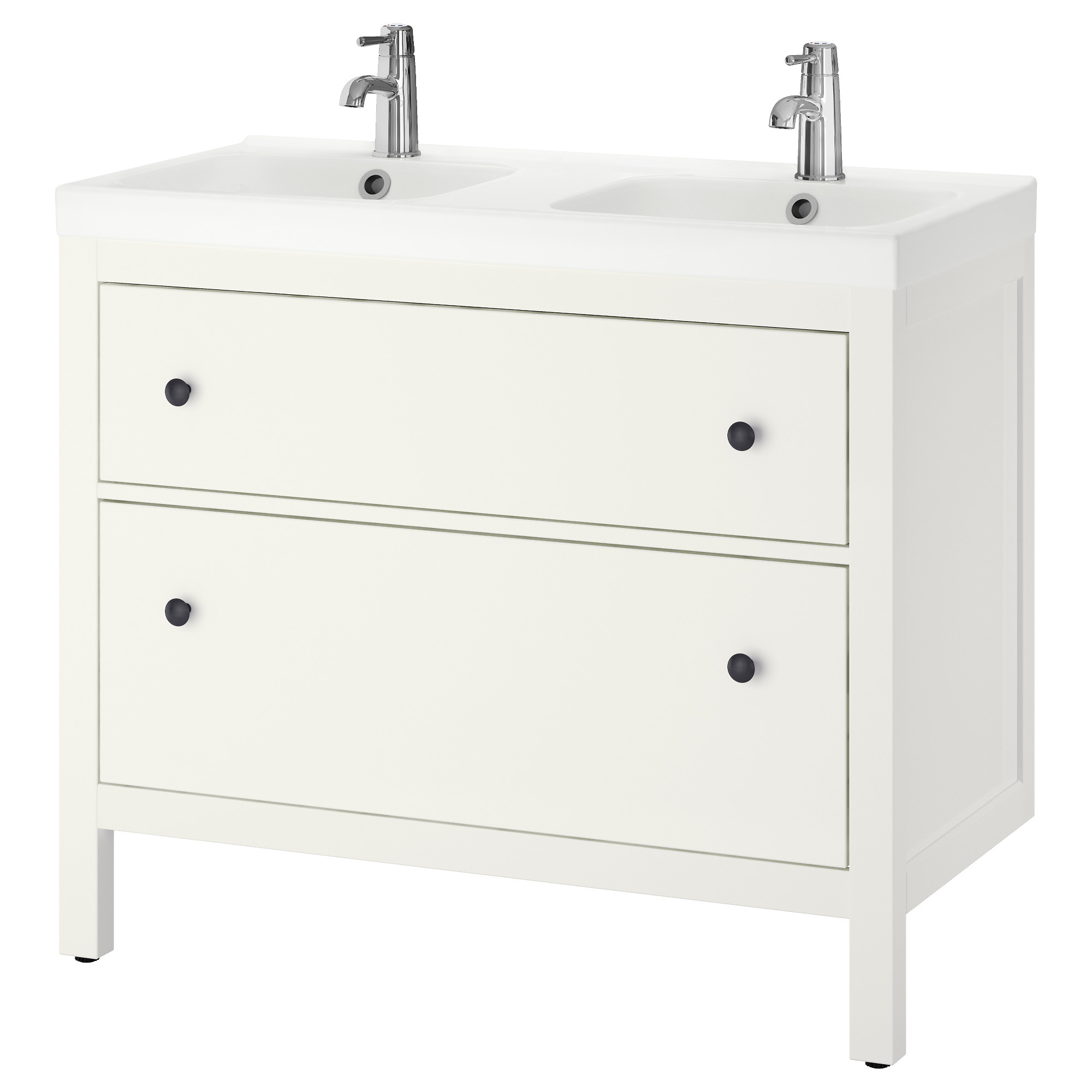 hemnes odensvik sink cabinet with 2 drawers white width 40 12