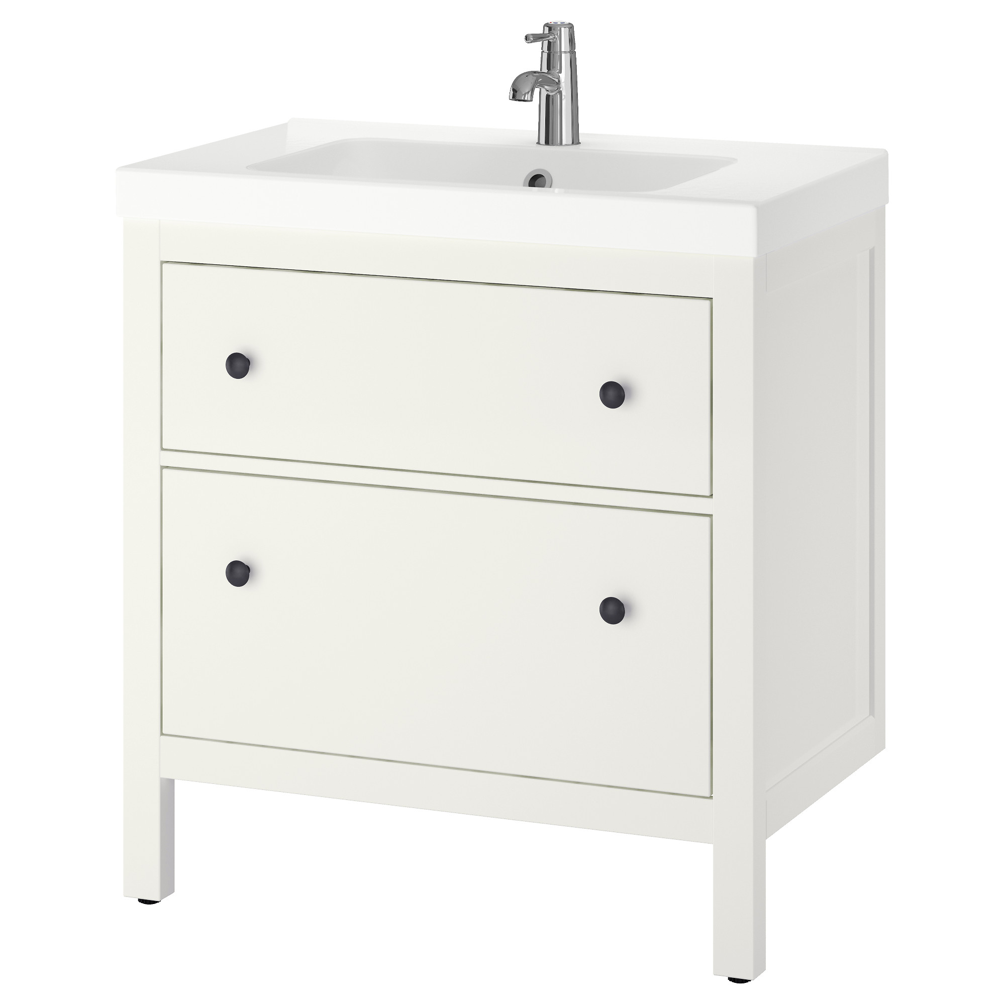 HEMNES ODENSVIK Sink cabinet with 2 drawers white IKEA