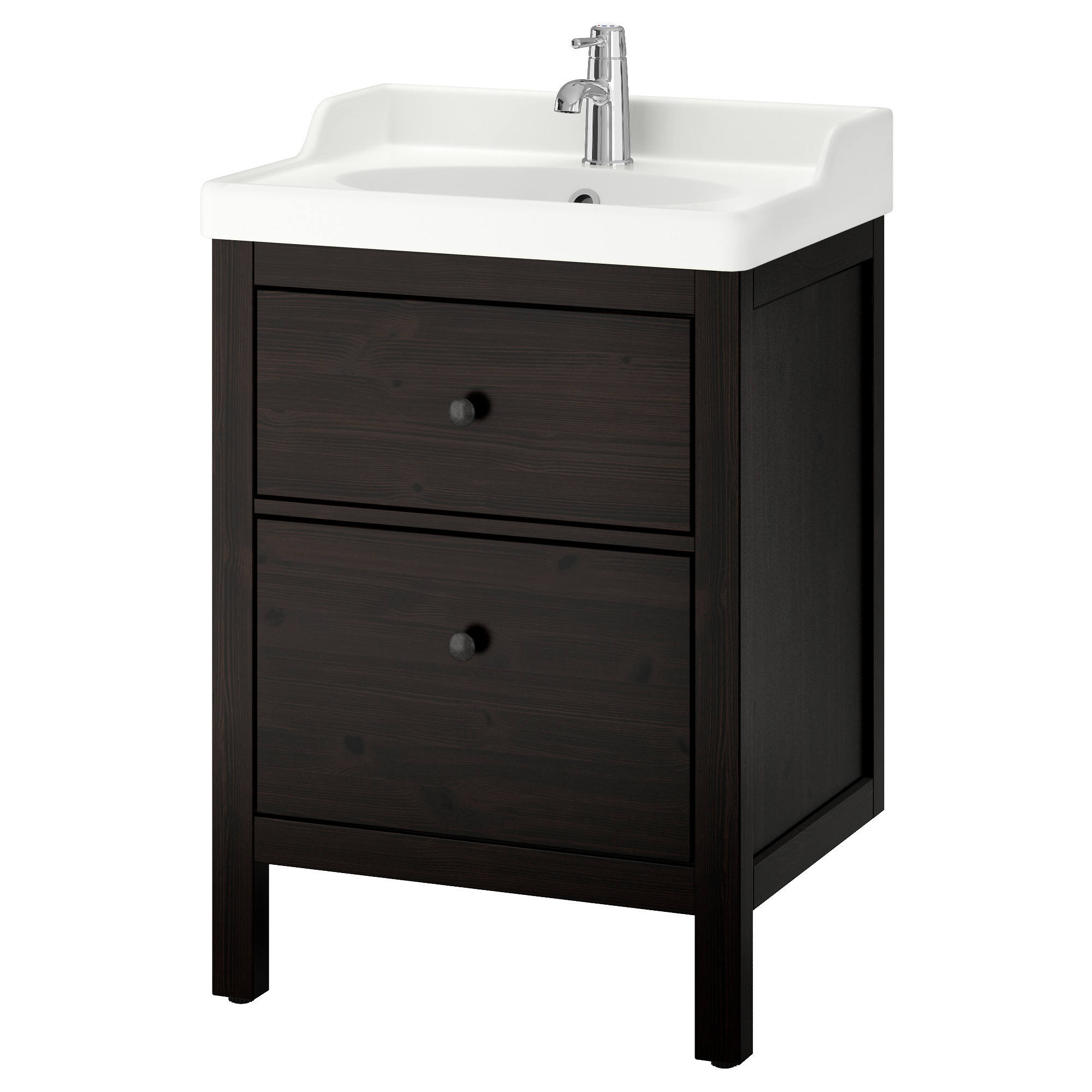 Charming HEMNES / RÄTTVIKEN Sink Cabinet With 2 Drawers   Black Brown Stain   IKEA