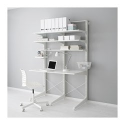 ALGOT post/foot/shelves, white Width: 127 cm Depth: 67 cm Height: 194 cm