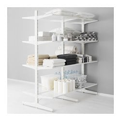 ALGOT post/foot/shelves, white Width: 167 cm Depth: 83 cm Height: 194 cm