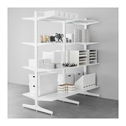 ALGOT post/foot/shelves, metal white Width: 167 cm Depth: 83 cm Height: 194 cm