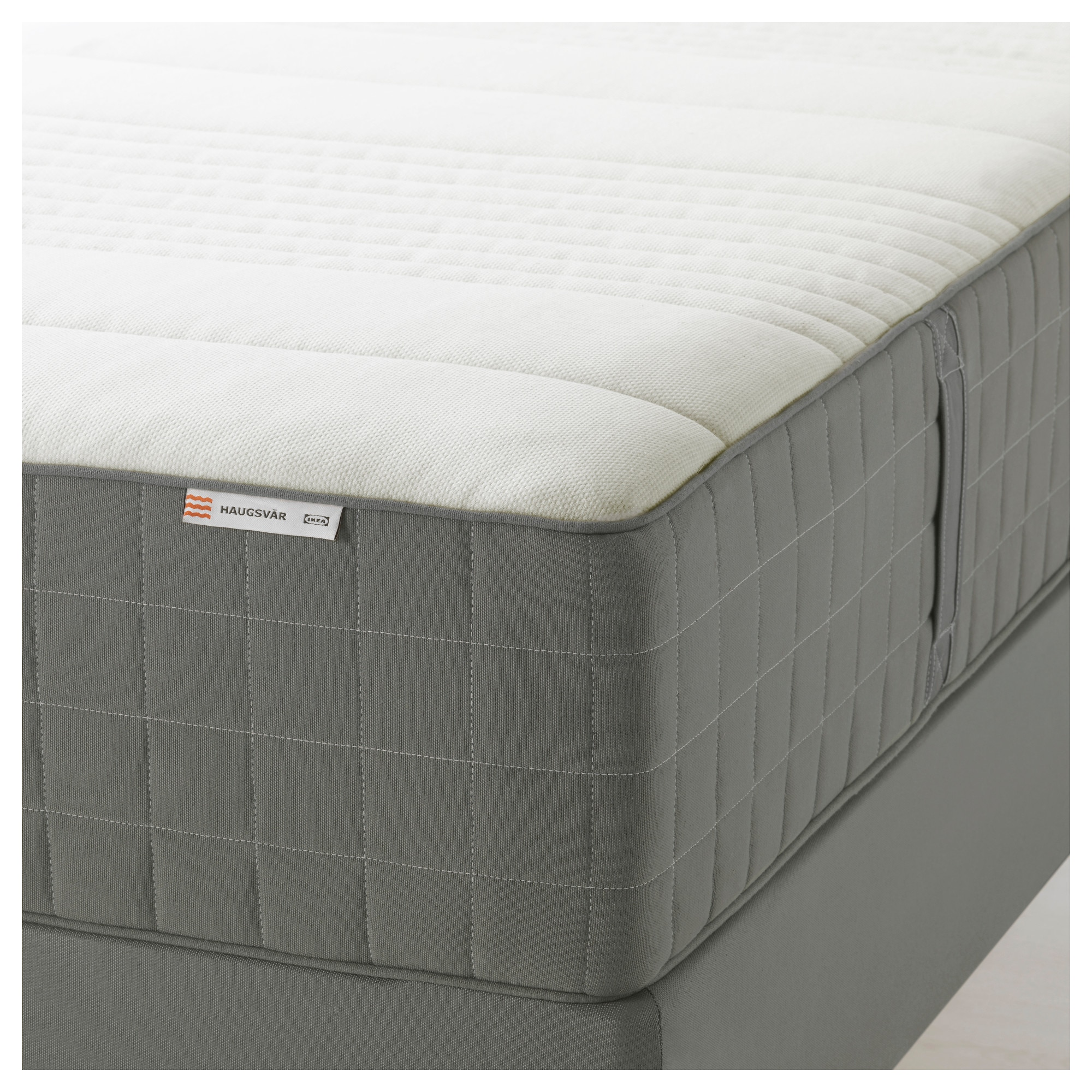 "HAUGSV""R Spring mattress Twin medium firm dark gray IKEA"